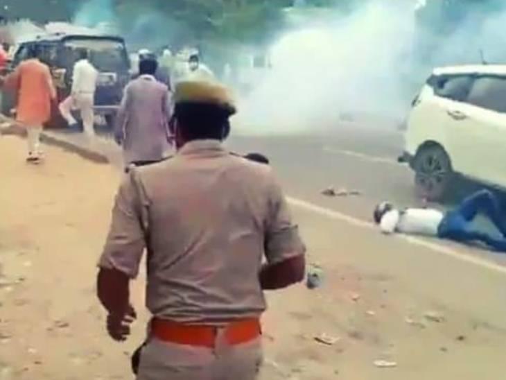 सीतापुर में गुरुवार को जमकर हिंसा हुई थी।