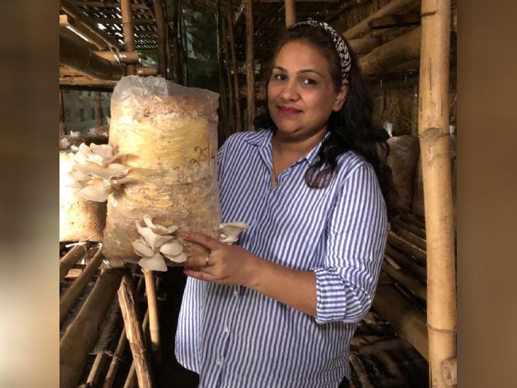 सपना ने बायोलॉजी से ग्रेजुएशन की पढ़ाई की है। अभी वे मशरूम की खेती में पति की मदद कर रही हैं।