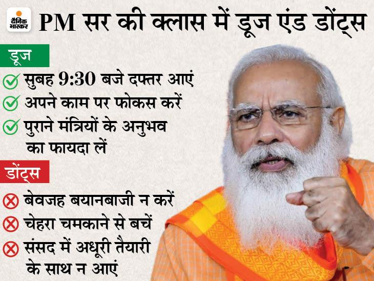 मीडिया में बेवजह बयानबाजी न करें; पुराने मंत्रियों ने बेहतर काम किया, उनके अनुभवों का फायदा लें|देश,National - Dainik Bhaskar