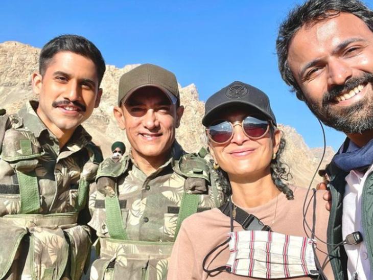 तलाक के बाद साथ नजर आए आमिर खान और किरण राव, चैतन्य अक्किनेनी के साथ लद्दाख में कर रहे हैं शूटिंग|बॉलीवुड,Bollywood - Dainik Bhaskar