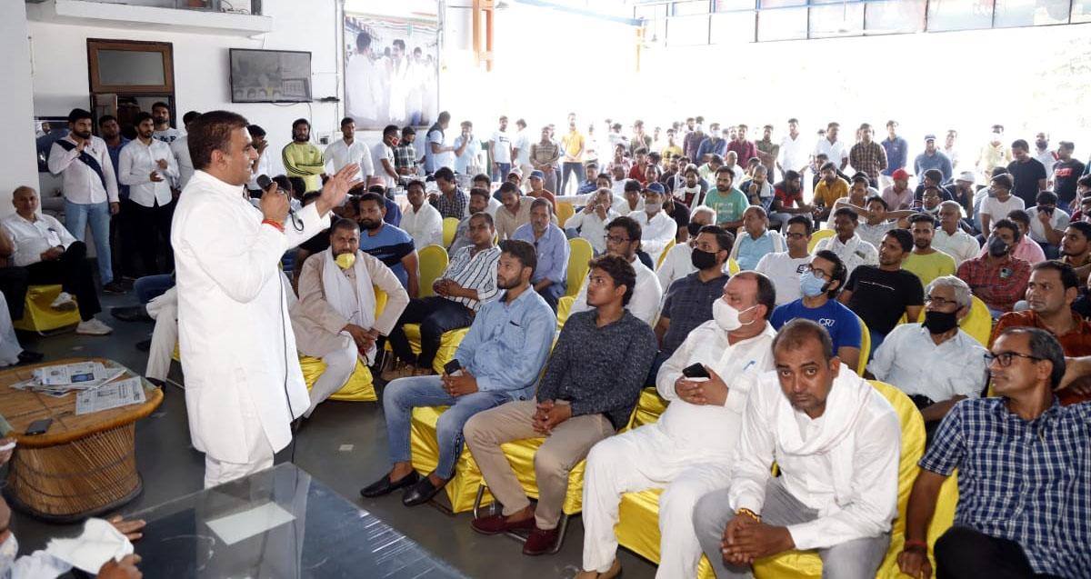 कांग्रेस पार्टी का अभिन्न अंग युवा हैं, यह अच्छी पहल है कि युवा कांग्रेस में पढ़े-लिखे शिक्षित युवा राजनीति में आने के लिए अग्रसर हैं फरीदाबाद,Faridabad - Dainik Bhaskar