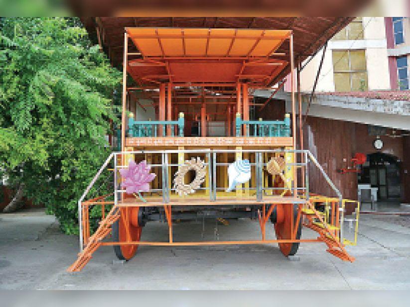 पुलिस की कड़ी शर्तों के कारण संचालकों ने रद्द कर दी भगवान जगन्नाथ की रथ यात्रा, केवल 1 किमी यात्रा की मिली थी मंजूरी|गुजरात,Gujarat - Dainik Bhaskar