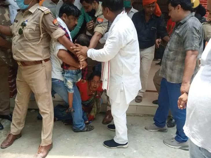लखीमपुर खीरी में महिला प्रत्याशी की खींची गई थी साड़ी तो बहराइच में बीडीसी के जेठ का हुआ मर्डर, बस्ती में एसएचओ ने की थी भाजपाइयों के साथ मारपीट|लखनऊ,Lucknow - Dainik Bhaskar