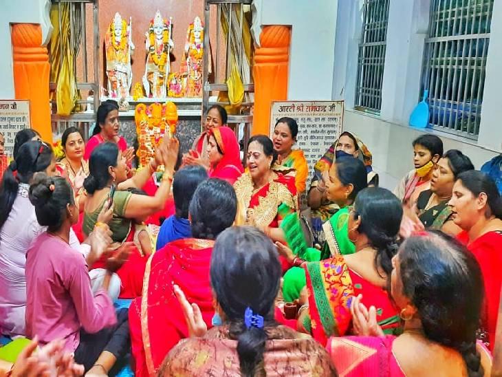 MP में बढ़ रहे अपराधों को लेकर रीवा में महिला कांग्रेस ने किया सद्बुद्धि यज्ञ, भागवत भजन कर मांगी मुख्यमंत्री के लिए सद्बुद्धि|रीवा,Rewa - Dainik Bhaskar