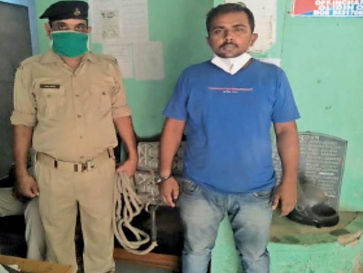 गिरफ्तार सुनील रजक। - Dainik Bhaskar