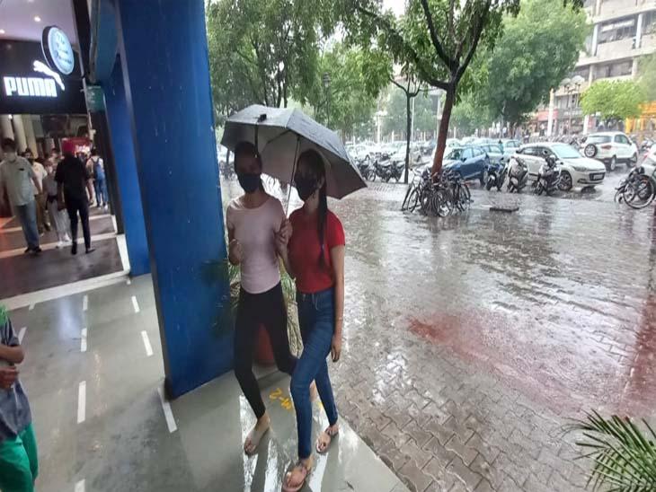 चंडीगढ़ में आज दोपहर बाद काले बादल मंडराने के बाद कुछ हिस्सों में हल्की बारिश हुई चंडीगढ़,Chandigarh - Dainik Bhaskar