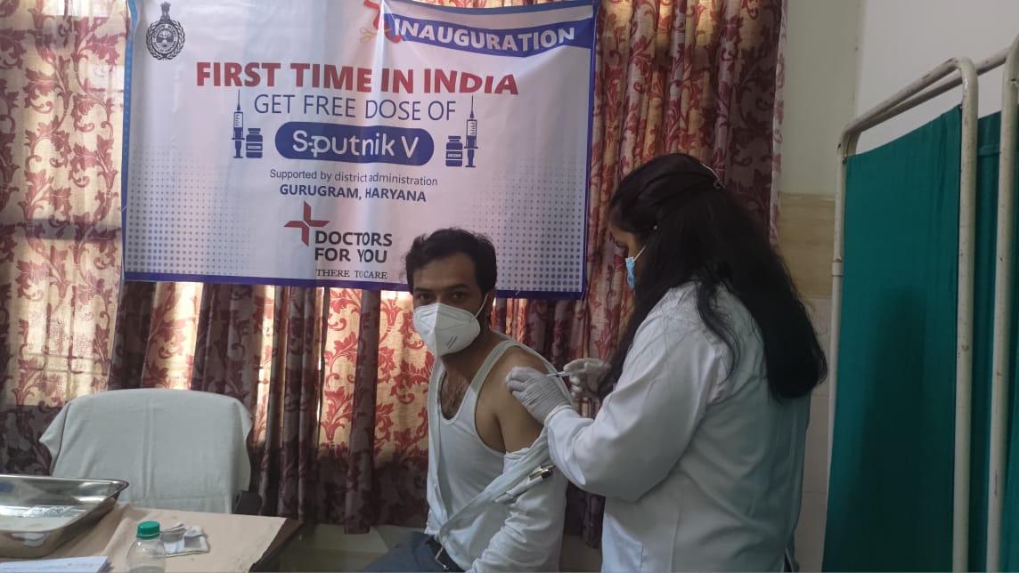 पहली बार कोरोना से सुरक्षा के लिए तीसरी फ्री वैक्सीन गुड़गांव में लगाई जाने लगी है। - Dainik Bhaskar