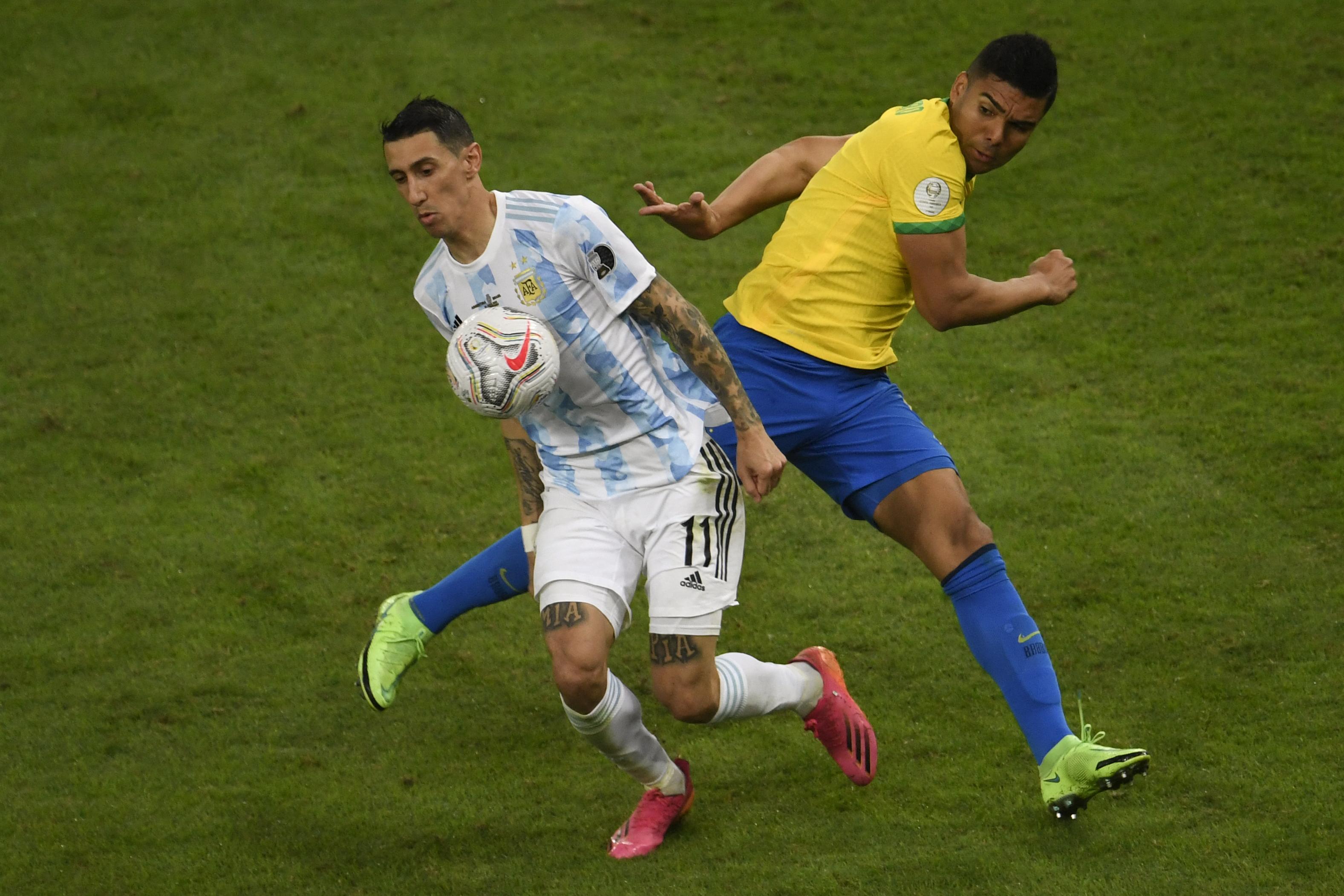 डि मारिया ने लॉन्ग पास पर अर्जेंटीना के लिए बेहतरीन गोल दागा।