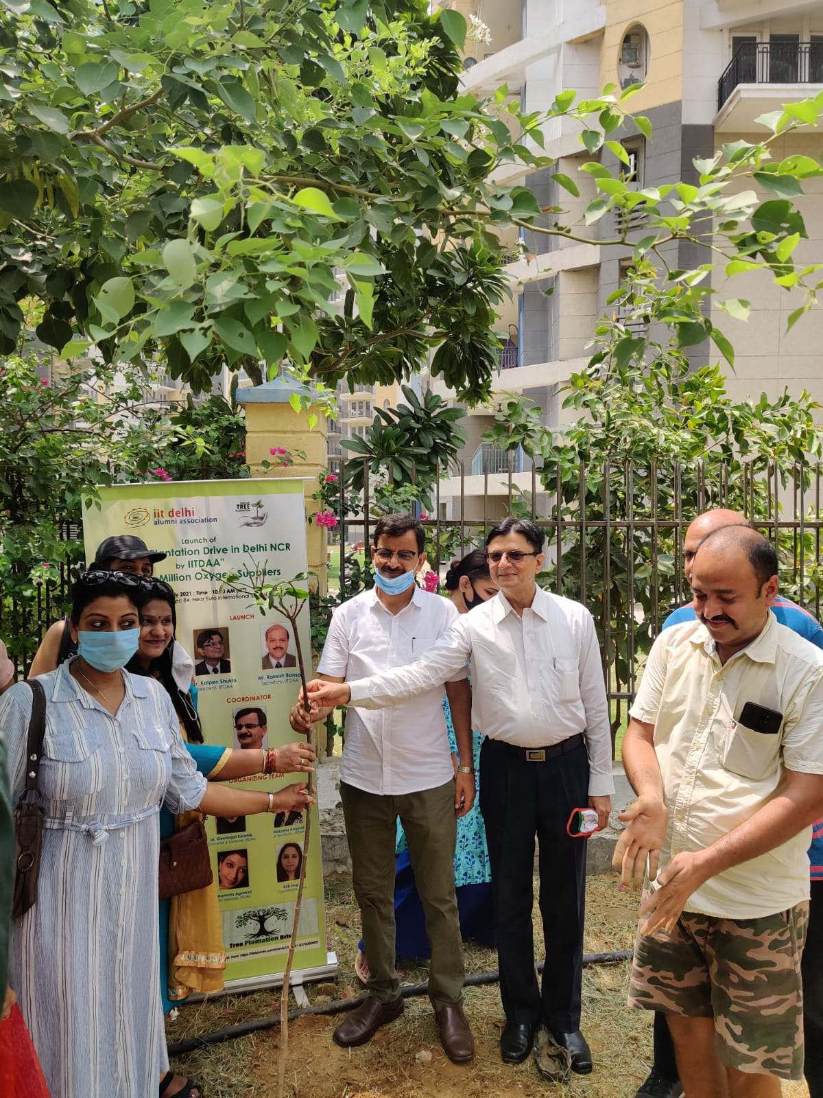 आईआईटी दिल्ली एलुमनाई एसोसिएशन ने की गुरुग्राम से दिल्ली एनसीआर में पौधारोपण अभियान की शुरुआत|गुड़गांव,Gurgaon - Dainik Bhaskar