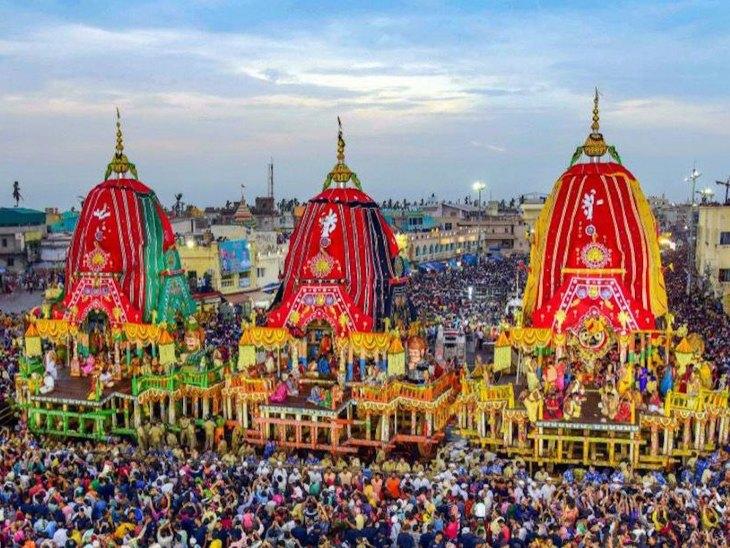 पहले रथ पूजा इसके बाद सोने की झाड़ू से बुहारे की रस्म, फिर रथ में घोड़े जोड़ने के बाद शुरू होती है यात्रा|धर्म,Dharm - Dainik Bhaskar