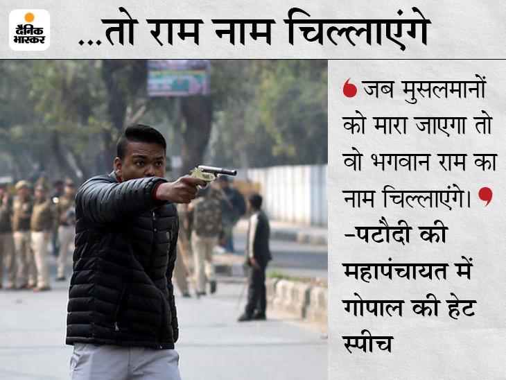 गुरुग्राम में मुसलमानों के खिलाफ भड़काऊ भाषण दिया था, दिल्ली में CAA के खिलाफ प्रदर्शन के दौरान फायरिंग भी की थी देश,National - Dainik Bhaskar