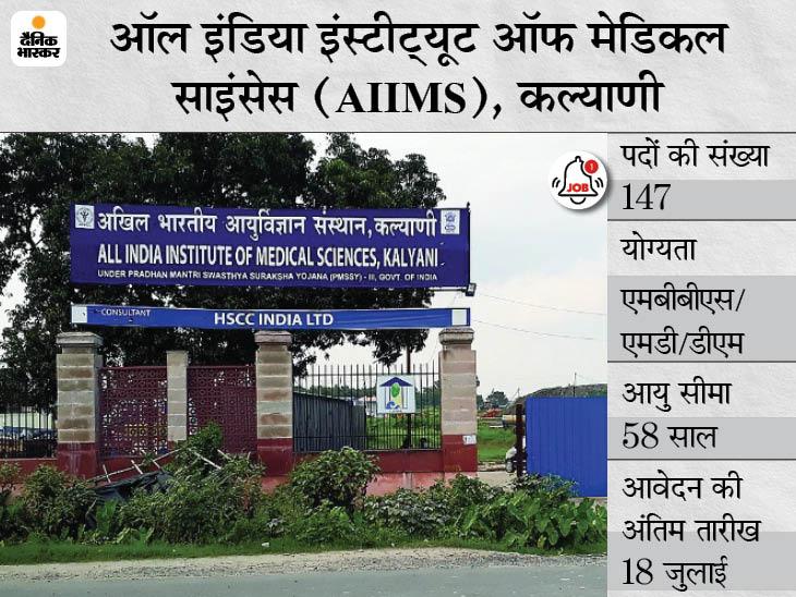 AIIMS ने फैकल्टी के 147 पदों पर भर्ती के लिए मांगे आवेदन, 18 जुलाई तक करें ऑनलाइन अप्लाई|करिअर,Career - Dainik Bhaskar