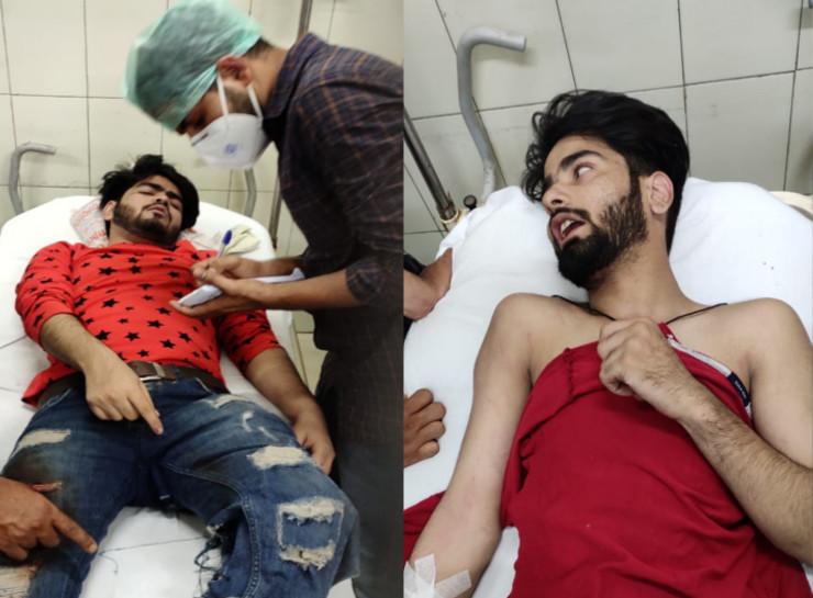 घायलों का SMS हॉस्पिटल में इलाज चल रहा है।