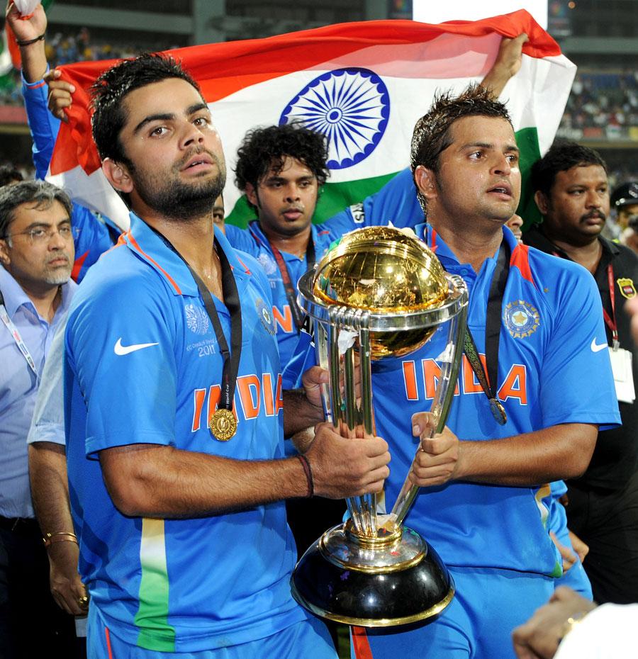 विराट कोहली और सुरेश रैना 2011 में वनडे वर्ल्ड कप जीतने वाली टीम इंडिया का हिस्सा थे।