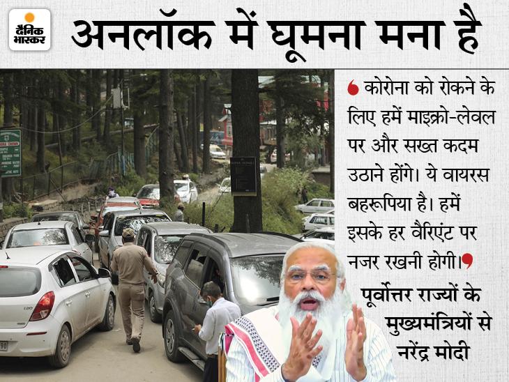 PM मोदी ने हिल स्टेशनों पर उमड़ रही भीड़ पर ऐतराज जताया; कहा- ऐसे ही आएगी तीसरी लहर, अपना एन्जॉयमेंट रोकना होगा|देश,National - Dainik Bhaskar