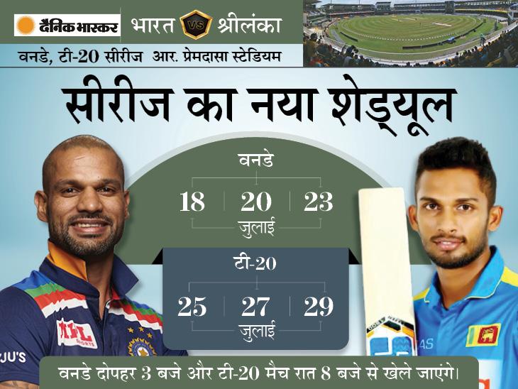 कोरोना के कारण पहले वनडे, टी-20 सीरीज का शेड्यूल बदला, अब श्रीलंका बोर्ड ने सभी मैचों का टाइम भी चेंज किया|क्रिकेट,Cricket - Dainik Bhaskar