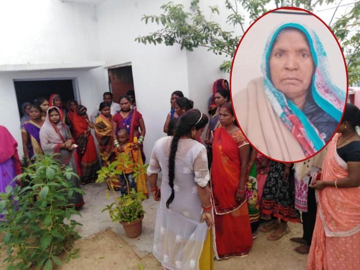 सरोजनीनगर के बेहसा गांव में हुई हत्या। आरोपी पोता नीरज फरार, पुलिस तलाश में लगी। (इनसेट में मृतका) - Dainik Bhaskar