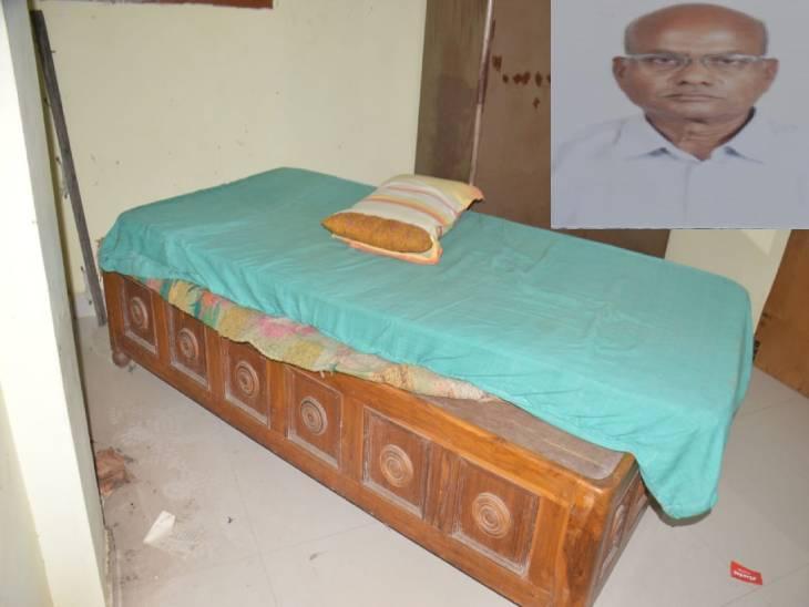 GCF से हुए थे रिटायर्ड, आरोपी ने मोबाइल फोन के चार्जर से गला कस कर की हत्या, किसी परिचित के शामिल होने का अंदेशा, दो मोबाइल भी गायब|जबलपुर,Jabalpur - Dainik Bhaskar