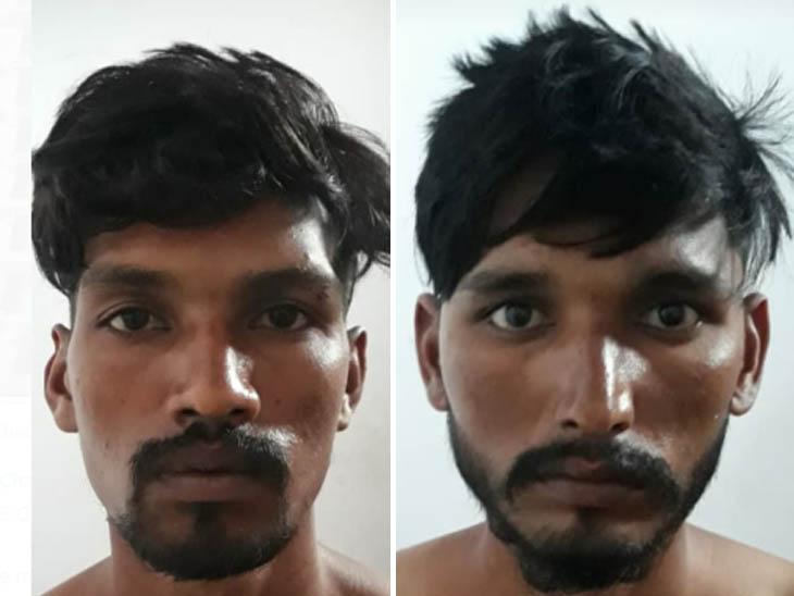 पंजाब पुलिस के स्टेट स्पेशल ऑपरेशन सैल की तरफ से मध्य प्रदेश के बड़वानी से पकड़े गए हथियारों के सप्लायर जीवन और विजय। - Dainik Bhaskar