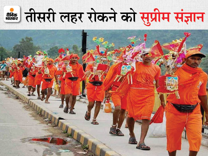 कोर्ट ने लिया स्वत: संज्ञान,पूछा- कांवड़ यात्रा को क्यों दी परमीशन? एक दिन पहले उत्तराखंड सरकार ने रद्द की थी यात्रा|लखनऊ,Lucknow - Dainik Bhaskar