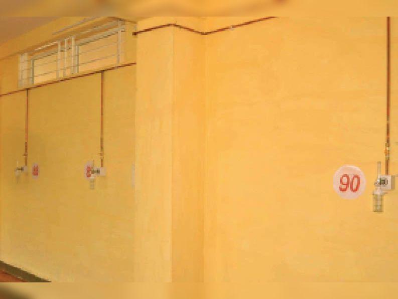 पीजी कॉलेज में तैयार आस्थाई 90 ऑक्सीजन बेड का कोविड केयर सेंटर। बेहतर हो कि इसका इस्तेमाल न करना पड़े। - Dainik Bhaskar