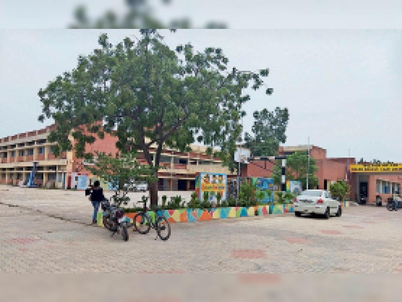 सेक्टर-7 गवर्नमेंट सीनियर सेकेंडरी स्कूल। - Dainik Bhaskar