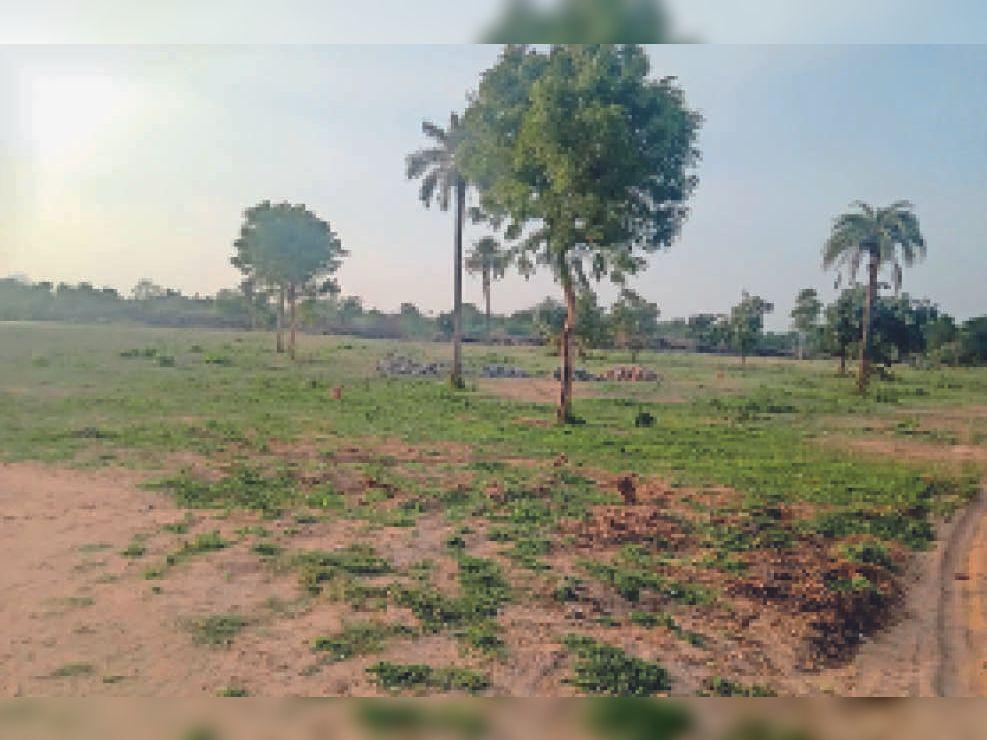 पिंडवाडा. जनापुर में इसी जगह कॉलेज बनना प्रस्तावित था।