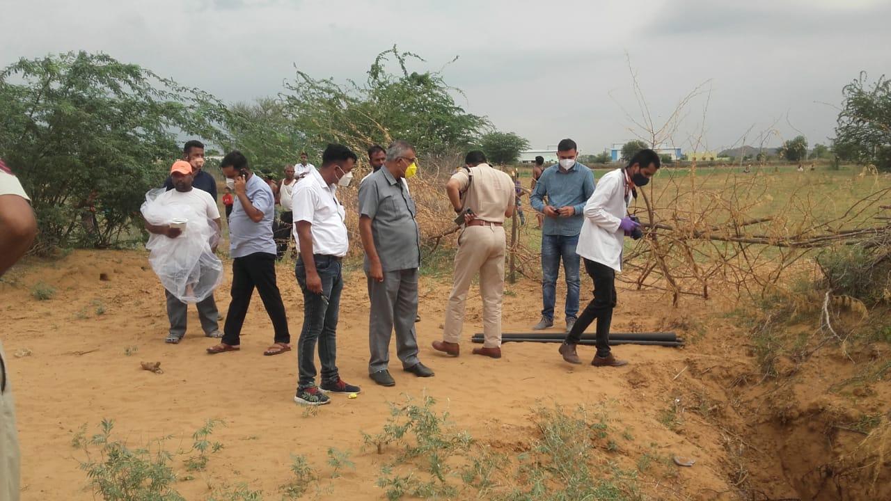 मौके पर पुलिस व FSL टीम