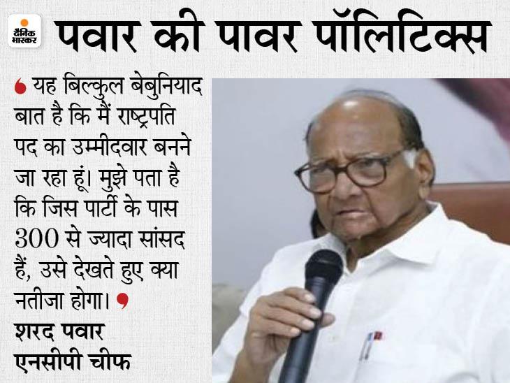 NCP चीफ बोले- मैं राष्ट्रपति चुनाव के लिए उम्मीदवार नहीं बनूंगा, क्योंकि मुझे पता है कि इसका नतीजा क्या होगा महाराष्ट्र,Maharashtra - Dainik Bhaskar