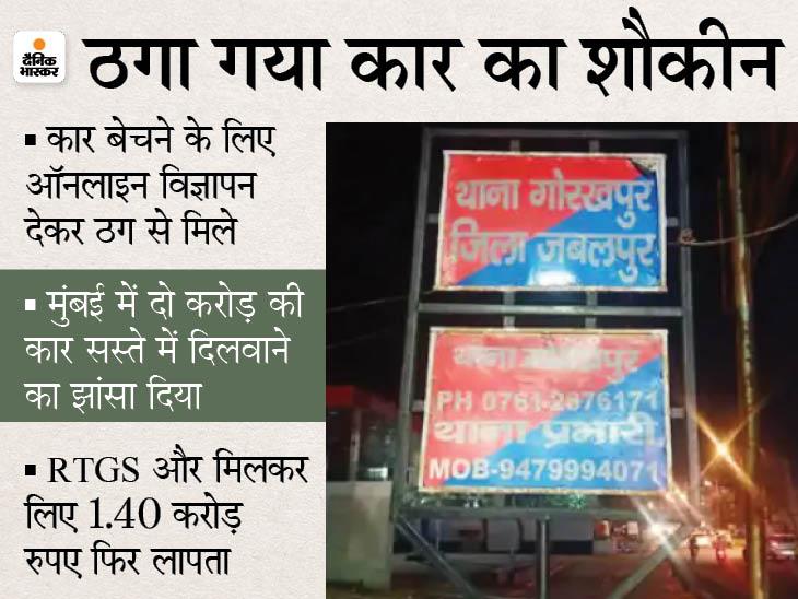 दिल्ली के जालसाज ने जबलपुर के दवा कारोबारी का पहले भरोसा जीता, फिर दो करोड़ की कार सस्ते में दिलाने का झांसा देकर हड़प लिए रुपए|जबलपुर,Jabalpur - Dainik Bhaskar