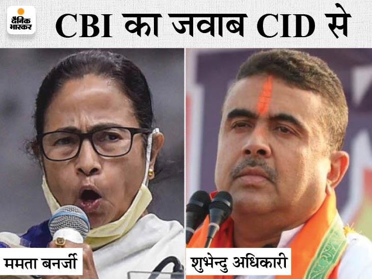 केंद्र के CBI का जवाब ममता ने CID से दिया, बॉडीगार्ड की संदिग्ध मौत के मामले में शुभेंदु के घर दबिश|देश,National - Dainik Bhaskar