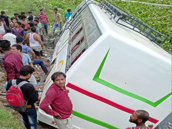 दरभंगा से समस्तीपुर जा रही थी, जनकपुरी चौक पर हुआ हादसा, चाय दुकानदार समेत 2 की मौत; विरोध में बवाल|दरभंगा,Darbhanga - Dainik Bhaskar