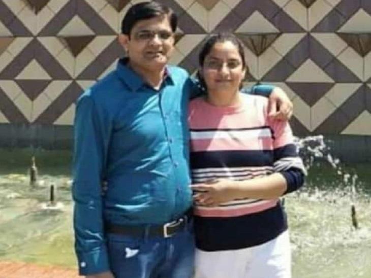 आरएएस टापर मुक्ता राव पति विजयपाल के साथ।