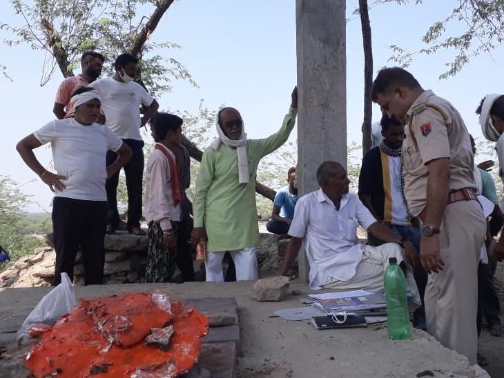 पुलिस-प्रशासनिक अधिकारी मौके पर पहुंचे; दोषियों पर कड़ी कार्रवाई करने की मांग|कोटा,Kota - Dainik Bhaskar