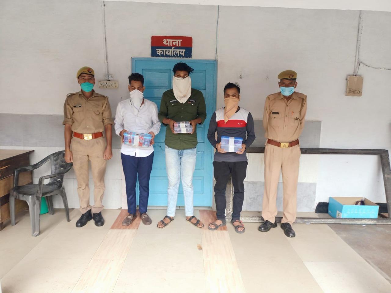 गाजियाबाद पुलिस ने ठगी करने वाले तीन शातिरों को गिरफ्तार किया। - Dainik Bhaskar
