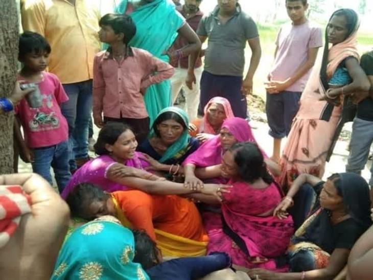 गर्भवति बेटी और नवासे की मौत से परिवार में मचा कोहराम। - Dainik Bhaskar