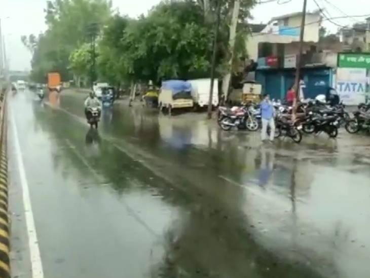 मुरादाबाद में बारिश से मौसम सुहाना हो गया है।