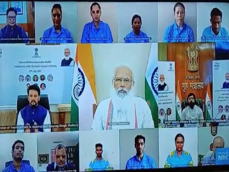 टोक्यो ओलंपिक में चयनित हुए शिवपाल से पीएम मोदी ने पूछा- महामारी के दौरान कैसे की तैयारियां|वाराणसी,Varanasi - Dainik Bhaskar