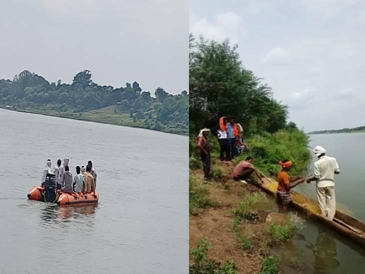 त्रिवेणी घाट पर परिवार के साथ भंडारा करने गया युवक नहाते समय नर्मदा में डूब गया था, 30 घंटे बाद स्थानीय गोताखोरों ने निकाली लाश|जबलपुर,Jabalpur - Dainik Bhaskar