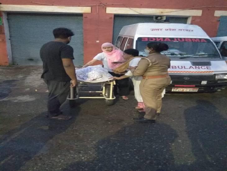 पुलिसकर्मी शव को मोर्चरी में रखने लगे तो मृतका की बहन ने पुलिस को वर्दी उतरवाने की धमकी दे देने लगी। - Dainik Bhaskar