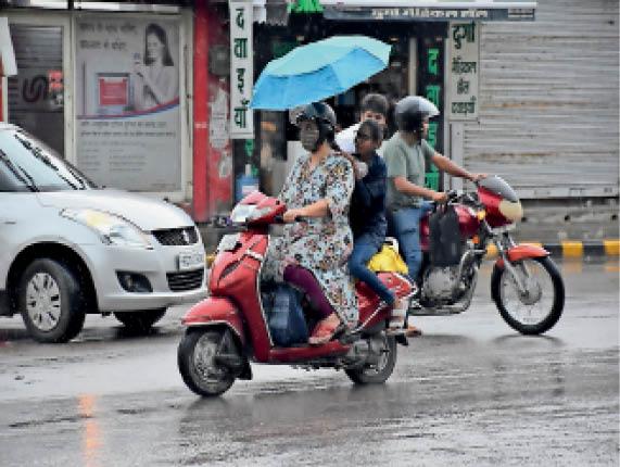 हिसार में बूंदाबांदी तो कई जगह तेज बारिश हुई। - Dainik Bhaskar