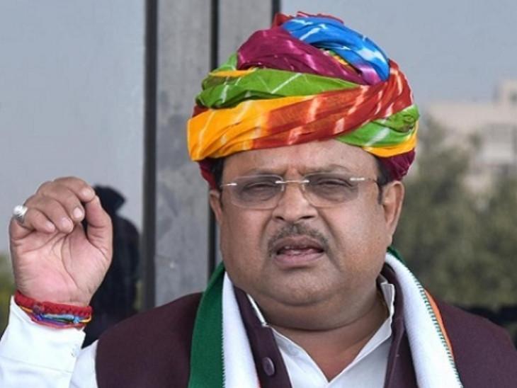 राजस्थान के स्वास्थ्य मंत्री रघु शर्मा बोले - 'हम दो हमारे एक' का यह सही समय; यूपी में जनसंख्या नियंत्रण के प्रस्तावित कानून के विरोध में है कांग्रेस|जयपुर,Jaipur - Dainik Bhaskar