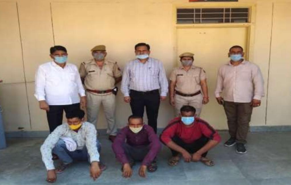 सिकंदरा थाना पुलिस के गिरफ्त में चोरी के आरोपी - Dainik Bhaskar