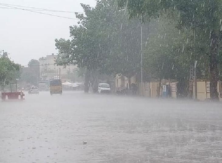 जयपुर, भीलवाड़ा, जोधपुर, चित्तौड़गढ़, नागौर और पाली में 7 व्यक्तियों की मौत, पाली में 23 पशु मरे; अलवर, चूरू, सीकर में तेज बारिश ने लोगों को गर्मी-उमस से दिलाई राहत|राजस्थान,Rajasthan - Dainik Bhaskar
