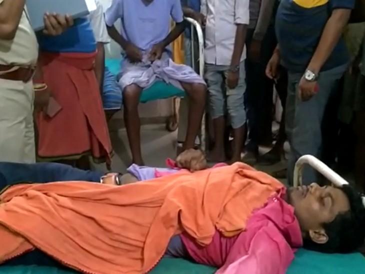 अस्पताल में CSP कर्मी की डेड बॉडी। - Dainik Bhaskar
