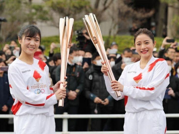 कोरोना के कारण टोक्यो शहर में ओलिंपिक टॉर्च रिले को रद्द करना पड़ा।