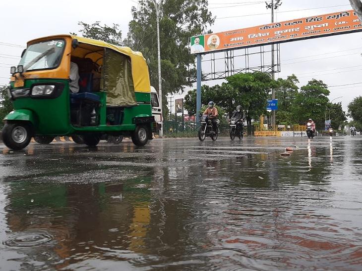 बारिश के बाद तापमान 40 डिग्री सेल्सियस से घटकर 28 डिग्री सेल्सियस हुआ, गर्मी से जूझते लोगों को मिली राहत|मुरादाबाद,Moradabad - Dainik Bhaskar