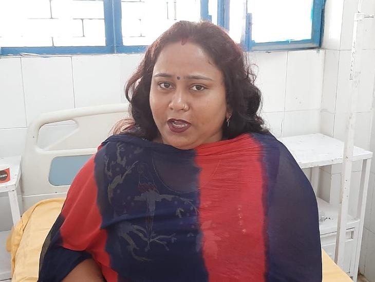 SSP आफिस फरियाद लेकर पहुंची महिला बेहोश होकर गिर पड़ी। पुलिस ने उसे अस्पताल में भर्ती कराया है। - Dainik Bhaskar
