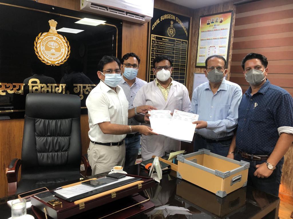 बुधवार को इंडियन एकेडमी ऑफ पीडियाट्रिक्स (आईएपी) हरियाणा ने सीएम के नाम एक ज्ञापन सौंपा। - Dainik Bhaskar