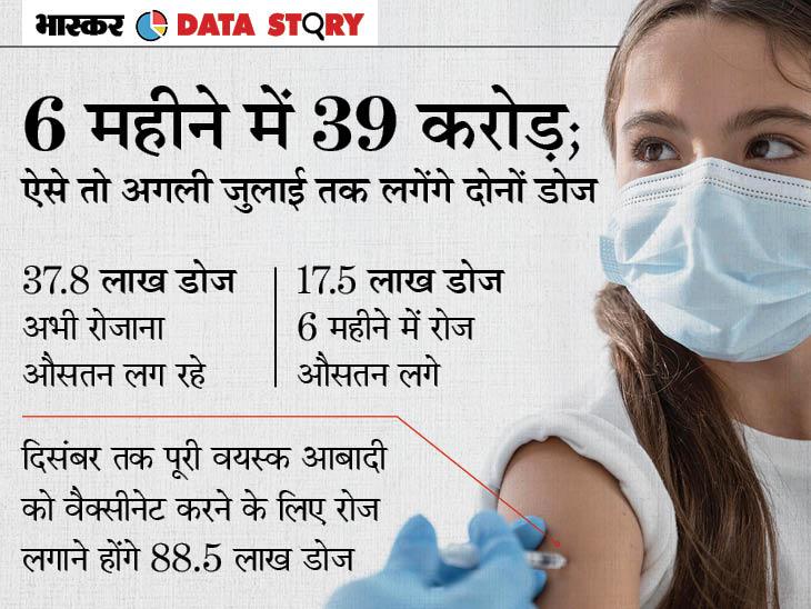 देश में वैक्सीनेशन को 6 महीने पूरे, मौजूदा रफ्तार से तो साल के अंत तक हर वयस्क नहीं हो सकता वैक्सीनेट|एक्सप्लेनर,Explainer - Dainik Bhaskar